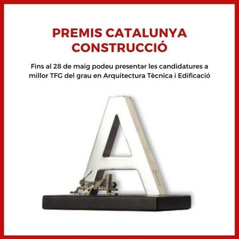 Convocada la 18a edició dels Premis Catalunya Construcció