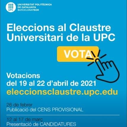 Elecció de representants al Claustre Universitari 2021