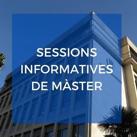 Sessions informatives de màsters