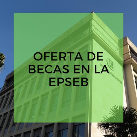 Becas de aprendizaje en la EPSEB