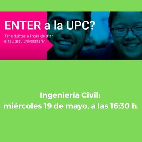 ENTER en la UPC sobre Ingeniería Civil