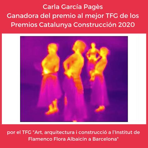 Titulada de la EPSEB Premio Cataluña Construcción 2020 al mejor Trabajo de Fin de Grado
