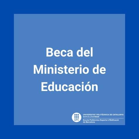 Beca del Ministerio de Educación 2021-2022