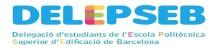 Logo de la Delegació d'Estudiantat de l'Escola Politècnica Superior d'Edificació de Barcelona de la Universitat Politècnica de Catalunya · BarcelonaTech (UPC)